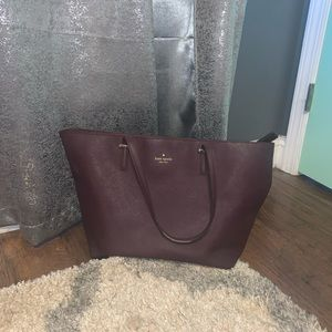 Beautiful Authentic Maroon Kate Spade Tote